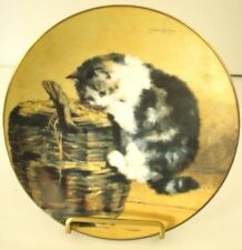 A Curious Kitty Collector Plate Victorian Cat Capers