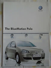 VW Polo Bluemotion range brochure Nov 2007