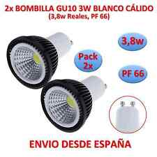 Pack 2x Bulb Led COB GU10 3,8w (3w) Black White Warm Dichroic 220v Black