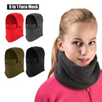 Winter Warm Fleece Balaclava Ski Motorcycle Neck Face Mask Hood Hat Helmet Cap