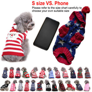 Cute Dog Cat Sweater Coat Jumpsuit Costume Small Pets Puppy Clothes Apparel NEW