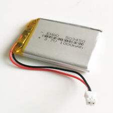 3.7V 1000mAh JST PH 2.0 Polymer lipo Battery For MP3 GPS Recorder Camera 503450