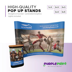 Pop Up Exhibition Stand Display - 1x3 2x3 3x3 4x3 5x3 - Trade show - Magnetic