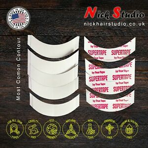 🔥STRONG WIG TAPE SUPERTAPE CONTOUR CC STRIPS, PACK 50 - DOUBLE SIDED TAPE