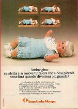 Pubblicità Advertising Werbung 1975 FURGA Bambola Ambrogina