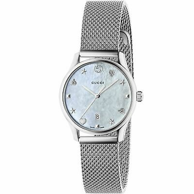 Gucci YA126583 Women's  G-Timeless Mother of Pearl Quartz Watch