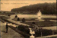 Tervueren Tervuren Belgien s/w AK 1927 gelaufen Le Bassin et  jardins Francais