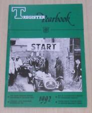 T REGISTER YEARBOOK MG Car Club 1992