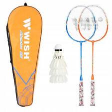 Set di racchette da badminton con 3 volani e borsa per il trasporto
