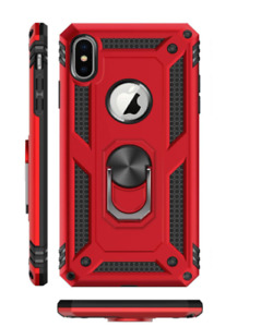 Apple IPhone X Xs Xs Max Case Armor Kickstand Hybrid Ring-Grip Protective Cover