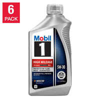 NEW Mobil 1 High Mileage Full Synthetic Motor Oil 5W30, 1-Quart/6-Pack FREE SHIP