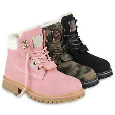 Damen Worker Boots Outdoor Stiefeletten Leicht Gefütterte Schuhe 819638