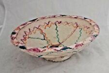 Vintage Hand Painted Rural Handmade  Paper Mache Fruit /Vegetable Keeping Bowl
