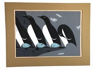 """Murre"" scarce Charley Harper Original 1960 silkscreen print  Ford Times"