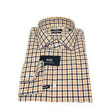 Karierte maschinenwäschegeeignete klassische HUGO BOSS Herrenhemden