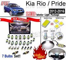 7 Bulbs 5630 LED White Lamps Interior Light Kit For Kia Rio / Pride 2012-2016
