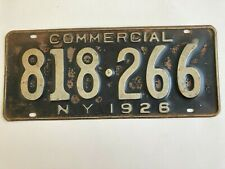1926 New York Commercial Truck License Plate Pickup 100% All Original Paint