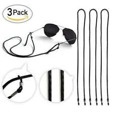 3 Black PU Leather Sunglasses Chain 64cm Strap Cord Holder Lanyard Neck Eyeglass