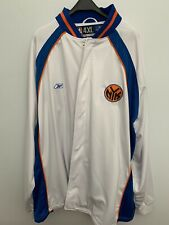 Reebok New York Knicks NBA Warm Up Jacket Long Sleeve White And Blue Size 4XL