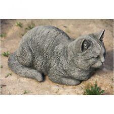 Gato de Piedra Moldeada Tigrecillo Animal Figura Decoración Jardín DE-318