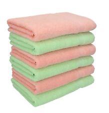 Lot de 6 serviettes Palermo couleur vert et abricot, qualité 360 g/m², 6 serviet