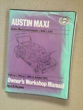 AUSTIN MAXI 1500 & 1750cc 1969-75' Haynes Workshop Manual