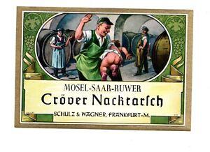 Altes Weinetikett Etikett Cröver Nackrarsch Mosel - Saar - Ruwer
