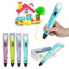 3D Printing Pen Crafting Doodle Drawing Printer Modeling PLA ABS Filaments US