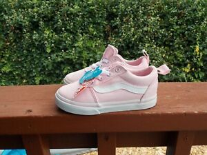 Vans Off The Wall Toddler Girls Pink Shoes Size 9 New W/Tags
