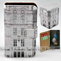 For Huawei Series - Vintage Building Theme Print Wallet Mobile Phone Case Cover