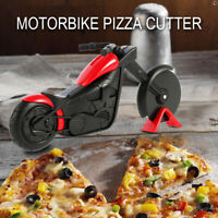 Ustensile cuisine lame trancheuse coupe pizza forme moto acier inoxydable SH