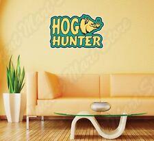 "Hog Hunter Hunting Rifle Firearms Wall Sticker Room Interior Decor 25""X18"""