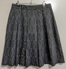 Colorado Women's Skirt 10 Dark Grey w Print A-line Pleats Casual Work Corporate