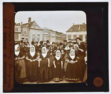Holland Middelburg Groupe d enfants Plaque photo positive de projection 8,5X10