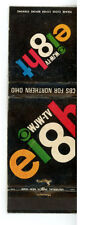 Match Book Cover CBS WJW-TV Channel Eight Advertisement 1967