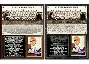 1954 Cleveland Browns NFL Champions Photo Card Plaque