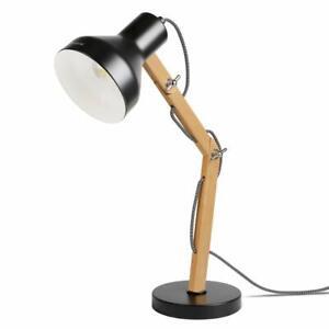 Tomons Schreibtischlampe E27 LED Glühbirne Lampe Tischlampe, schwenkbar, Schwarz