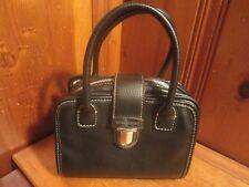 Victoria's Secret Handbag Purse Pebbled Soft Black Leather Separable Clutch