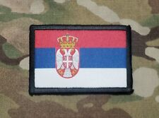 SERBIAN FLAG Serbia Army Tactical Hook Loop Military Morale Patch
