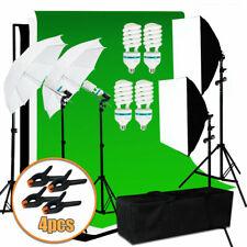 Continuous Umbrella Soft Box Backdrop Light Stand Lighting Kit Set Photo Studio