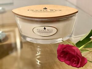Crackle wick Large Jar candle with 2 wood wick and a lid. White Gardenia 485g
