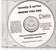 (EY69) Twen2y 4 Se7en, Where You Are - 2004 DJ CD