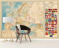 3D Russland Europa H707 Welt Karte Tapete Wandbild Selbstklebend Abnehmbare Amy