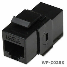 RJ45 Female to Female UTP CAT 6 Keystone Coupler, Black