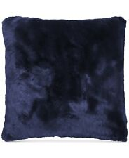 "Hallmart Collectibles Bedding 18"" Square Faux Fur Decorative Pillow Blue G121"