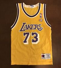 5e098225ddd Vintage Champion NBA Los Angeles Lakers Dennis Rodman Basketball Jersey  Youth S