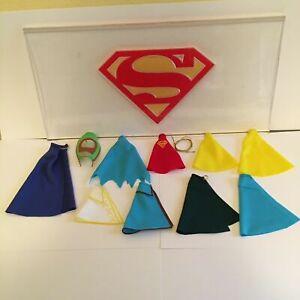 Custom Kenner Super Powers Capes Batman Superman Robin Shazam Fate Martian Lasso