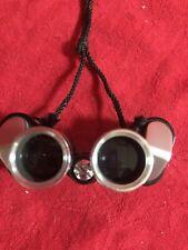Binolux Miniature Japanese 7 x 18 Binoculars in Tooled Leather Case