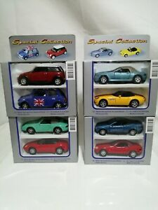 Welly Diecast 1/38Joblot Bundle 8 New cars BMW Mercedes Mini Porsche Models Toy