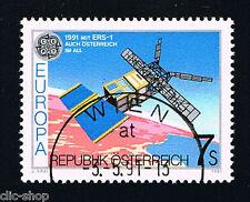 AUSTRIA 1 FRANCOBOLLO EUROPA CEPT SPAZIO 1991 timbrato